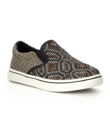 bm bernie mev. black/bronze woozen girls slip-on sneakers