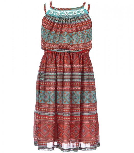 bonnie jean coral beaded spagh maxi dress