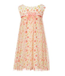 bonnie jean coral floral twin printed dress