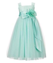 Chantilly place mint-green brocade ballerina girl dress