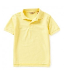 class club yellow pique polo shirt