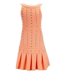 marciano peach gold embellished scuba dress