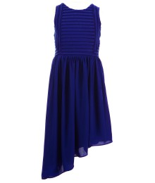marciano royal blue textured stripe mesh side long