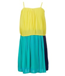 gb girls yellow/green color block dress