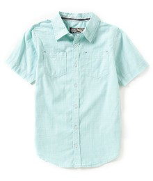 first wave green aqua 2 pocket s/s shirt