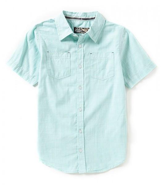 first wave green aqua 2 pocket s/s shirt