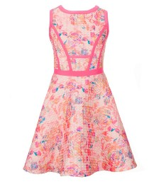 gb girls pink multi textured swing dress