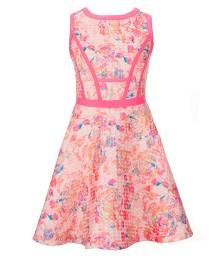 gb girls pink multi textured swing dress