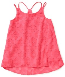 gb girls pink neon strappy swing tank top