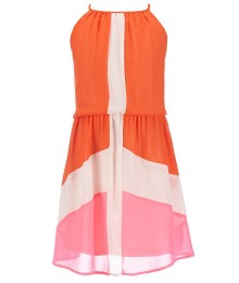 gb girls orange/tangerine color block dress