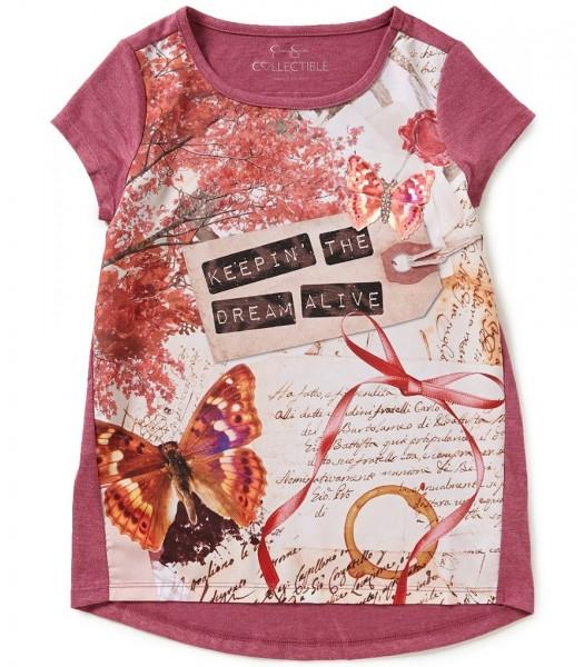 jessica simpson pink raspberry tee wt butterfly dreams print
