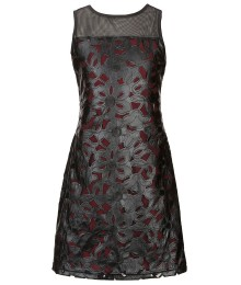 blush by angels black leather laser dress wt wine underlay a-line dress