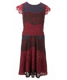 miss me burgundy/red/black sleevless lace dress