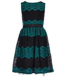 xtraordinaryblue/black lace dress wt bow  Little Girl