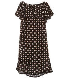 gb girls black dress wt flutter sleeve n neck  Big Girl