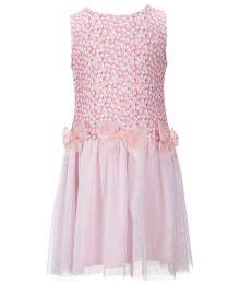 lavender by us angel pink drop waist bow dress
