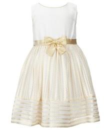 Sweet herat rose ivory/gold sleeveless bow dress
