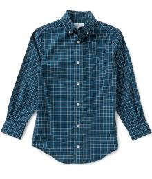 class club green/teal check l/s shirt