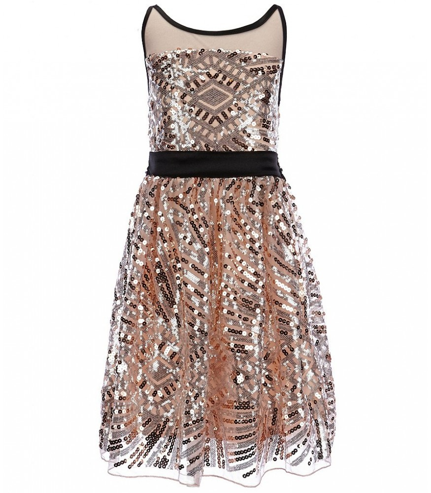 b34643fa2c55 ... blush/black girls illusion sequin dress. ₦15,950.00 NGN