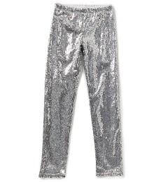 gb girls silver sequin girls leggings  Big Girl