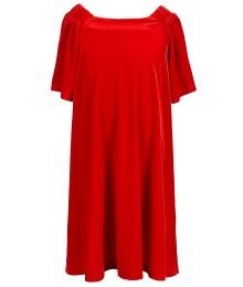 gb girls red velvet shift dress