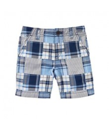 crazy8 blue white check plaid shorts
