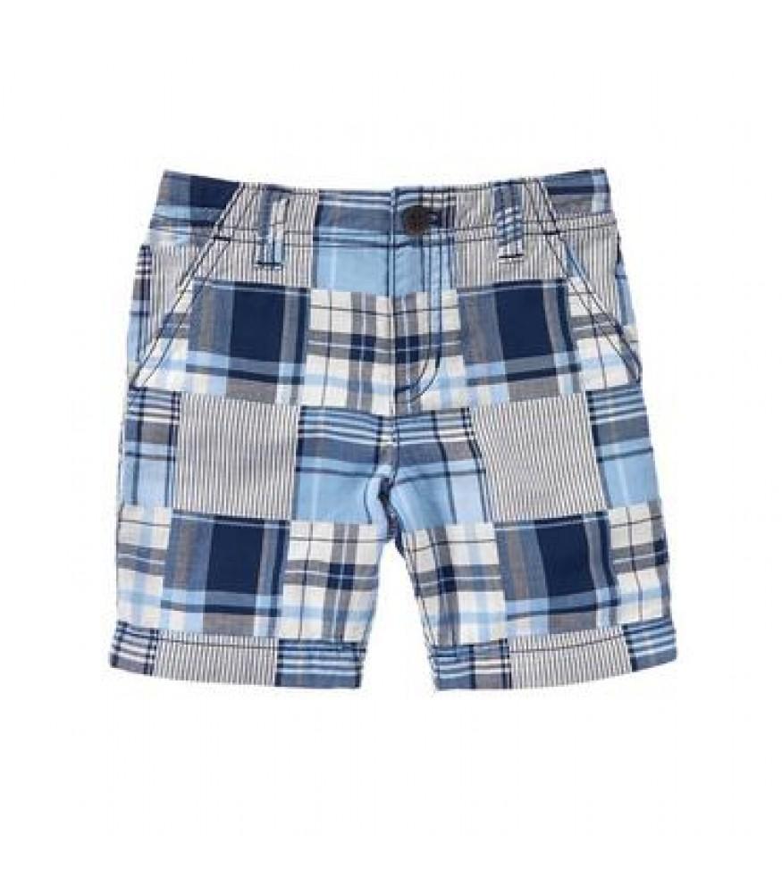 crazy8 blue white check plaid shorts