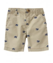 crazy8 khaki wt blue print shorts
