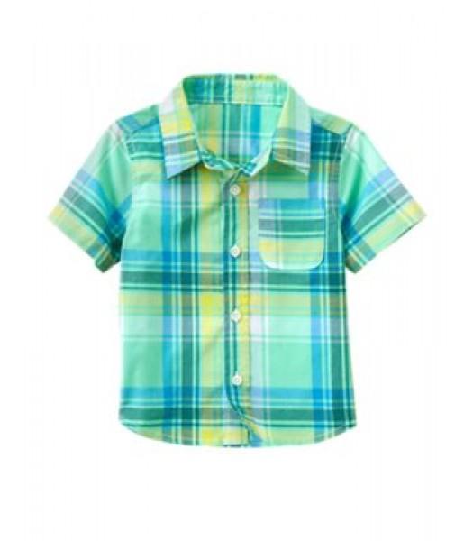 crazy8 green (mint) check shirt