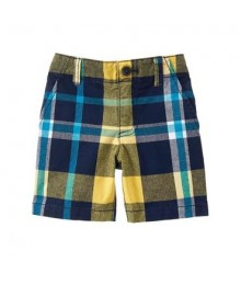 gymboree green/yellow/grey plaid shorts