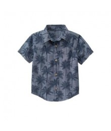 gymboree grey palm print shirt