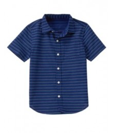 crazy8 navy stitch stripped ss shirt