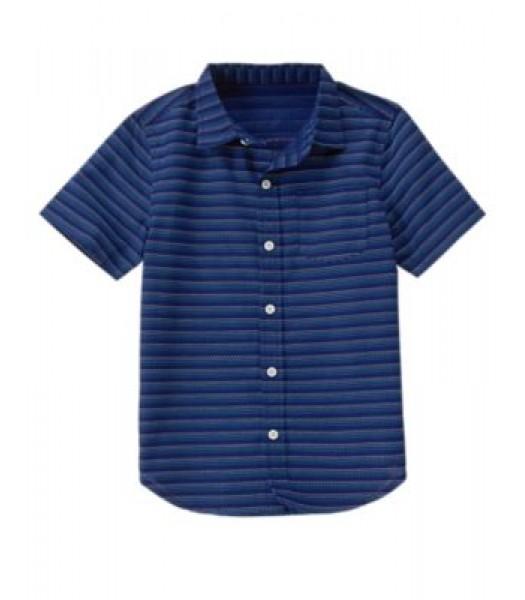 crazy8 navy stitch stripped ss shirt