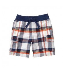 crazy 8 white grey oran striped carg shorts