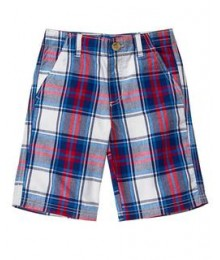 crazy8 red/wht/blue check cargo shorts
