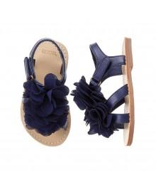 gymboree navy girls rosette sandal