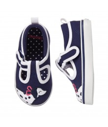 gymboree navy/white puppy sneakers