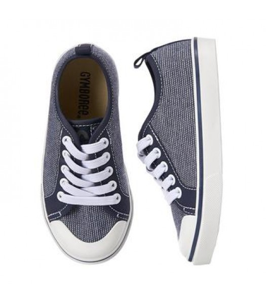 gymboree chambray wt white front boys sneakers Shoes