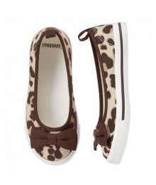 gymboree leopard print girls bow skimmers sneakers