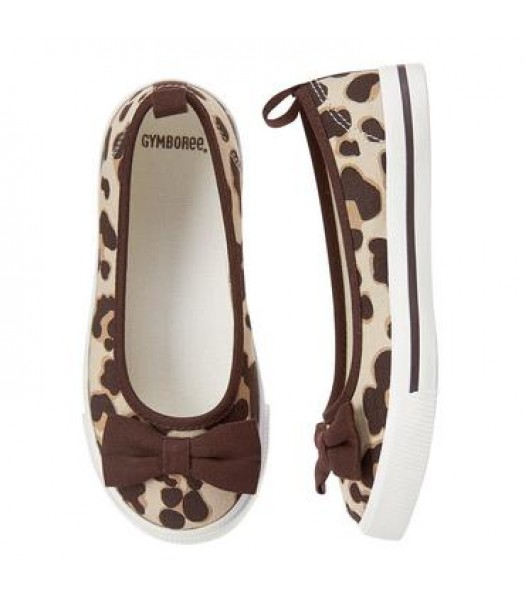 gymboree leopard print girls bow skimmers sneakers Shoes