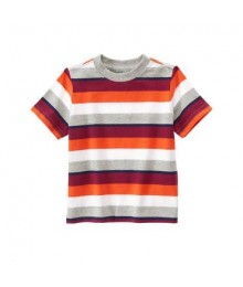 gymboree orange/grey/oxblo multi striped tee