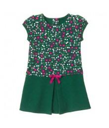 gymboree green floral/petal pleat dress