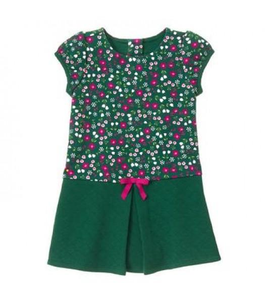 gymboree green floral/petal pleat dress  Little Girl