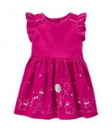 gymboree pink silber embro animal party dress