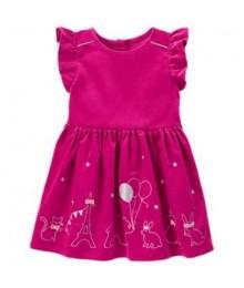 gymboree pink silber embro animal party dress