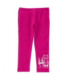 gymboree pink animal embroidery leggings