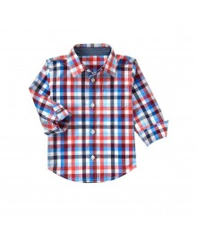 gymboree orange plaid l/s shirt