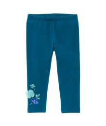 gymboree green floral appliq leggings