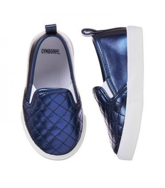 gymboree blue girls slip on sneakers