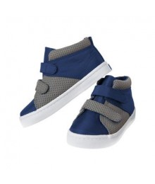 crazy 8 navy/gray colorblock high top sneakers